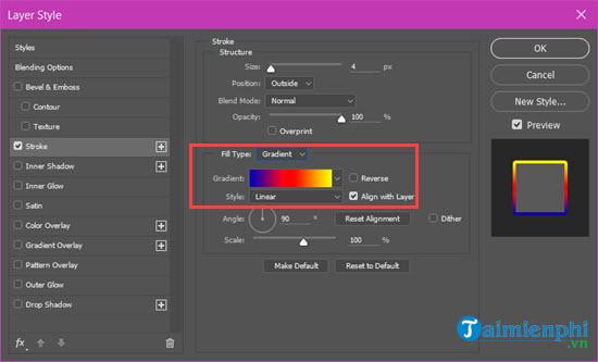 Cách tạo viền chữ trong Photoshop CC, CS6