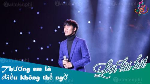 loi bai hat em la dieu khong the ngo sing my song