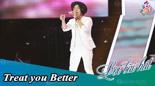 loi bai hat treat you better