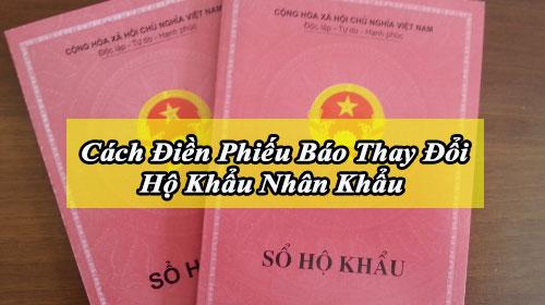 cach dien phieu bao thay doi ho khau nhan khau