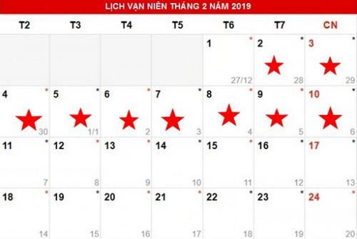 lich nghi tet 2019 ky hoi