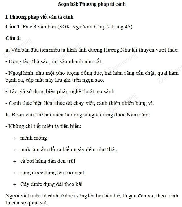 soan bai phuong phap ta canh