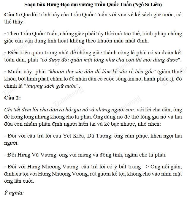 soan bai hung dao dai vuong tran quoc tuan
