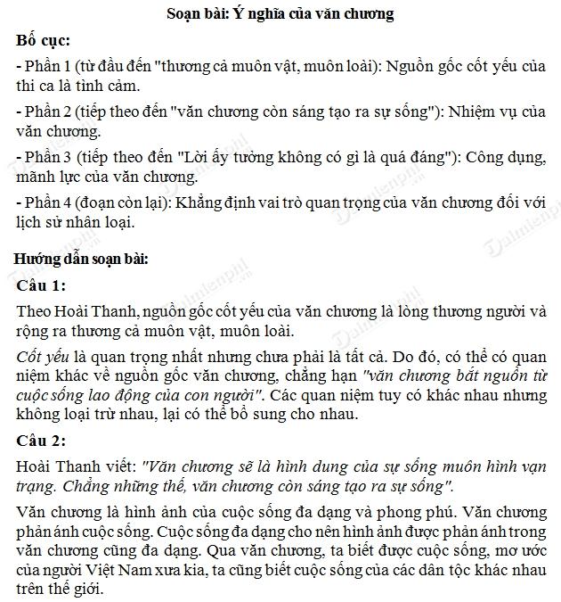 soan bai y nghia van chuong