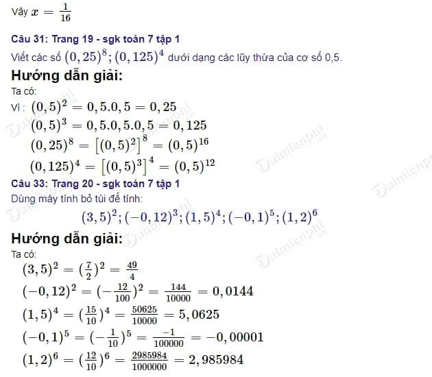 Giải bài tập trang 19 SGK Toán tập 1