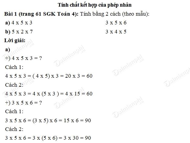 giai bai tinh chat ket hop cua phep nhan