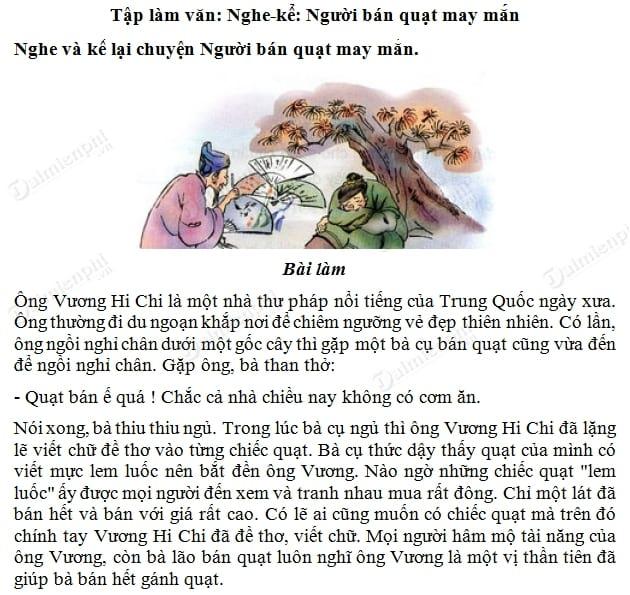 soan bai nguoi ban quat may man