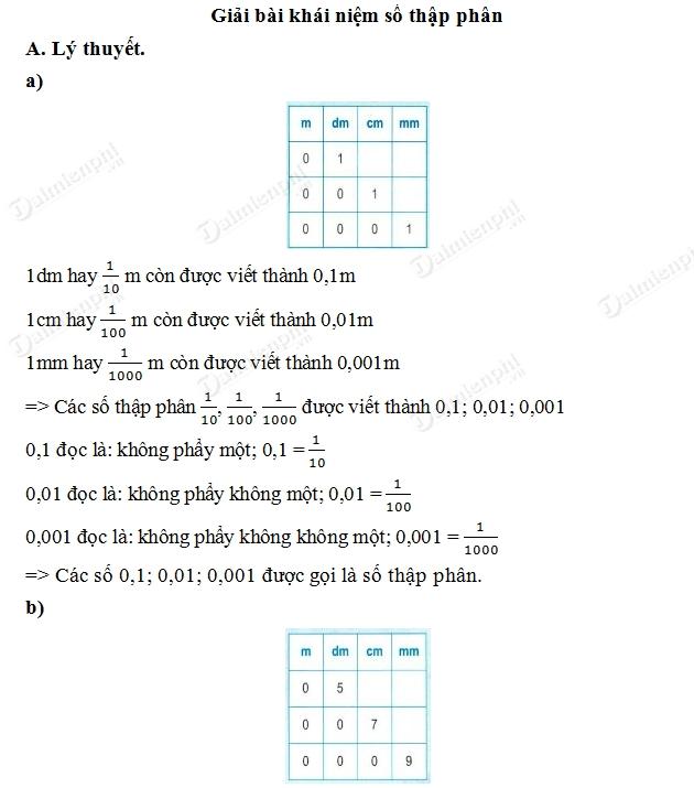 Giải bài tập trang 34, 35 SGK toán 5