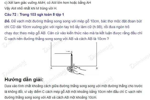 giai toan 8 trang 102 103 sgk tap 1 duong thang song song voi duong thang cho truoc 5