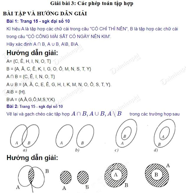 giai toan 10 trang 15 sgk tap 1 cac phep toan tap hop