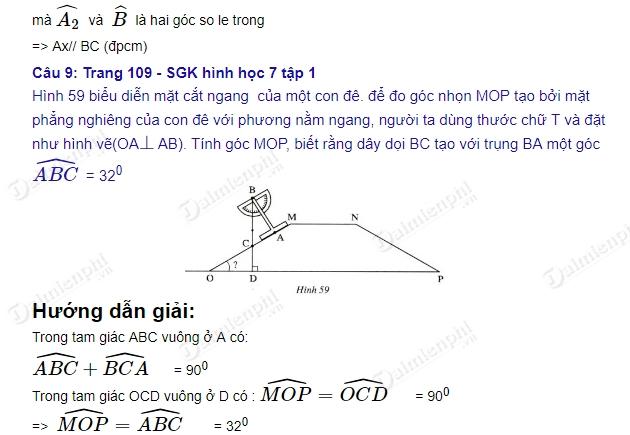 Giải bài tập trang 107, 108, 109 SGK Toán 7 Tập 1