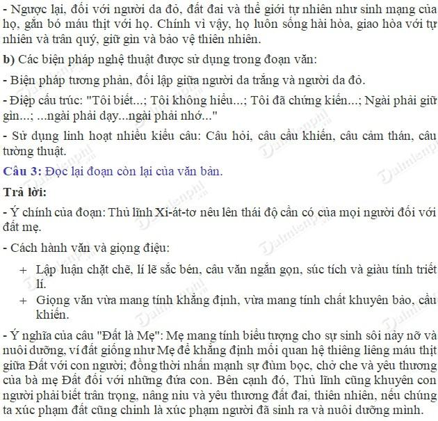 soan bai buc thu cua thu linh da do trang 135 sgk ngu van 6 tap 2 soan van lop 6 4