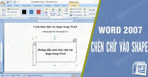 Hướng dẫn chèn chữ vào shape trong Word, vẽ hình trong word 0