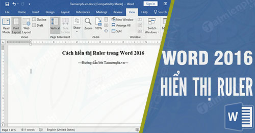 cach hien thi ruler trong word 2016