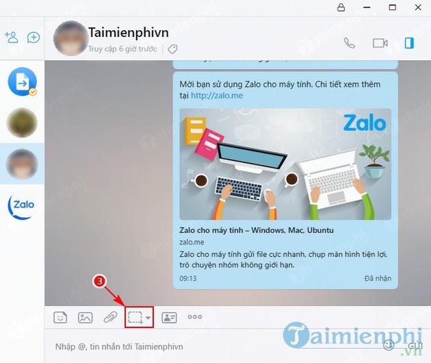 Cách chụp màn hình và gửi lên Zalo tới bạn bè 2