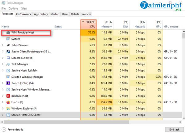 Sửa lỗi CPU 100, khắc phục lỗi CPU chạy quá tải 100% 12