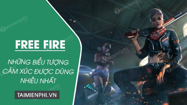 bieu tuong cam xuc trong free fire hay duoc dung nhat