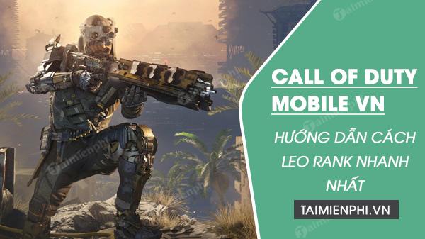 meo leo rank nhanh chong trong call of duty mobile