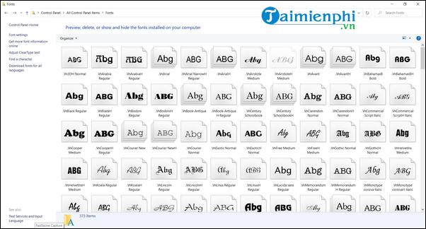 Cài thêm font chữ cho Máy tính, Laptop 13