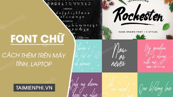 Cai them font chu cho may tinh