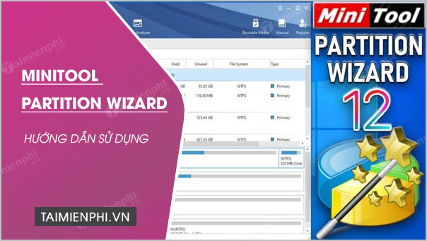 cach su dụng MiniTool Partition Wizard