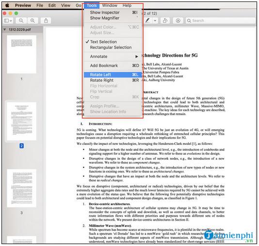 cach gop nhieu file pdf tren macbook thanh mot
