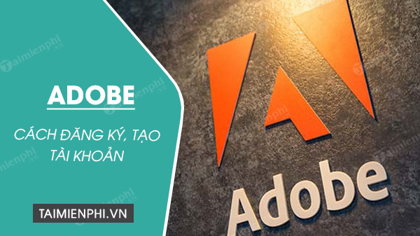 how to register an adobe account