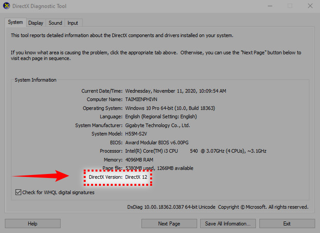 Instructions for installing DirectX
