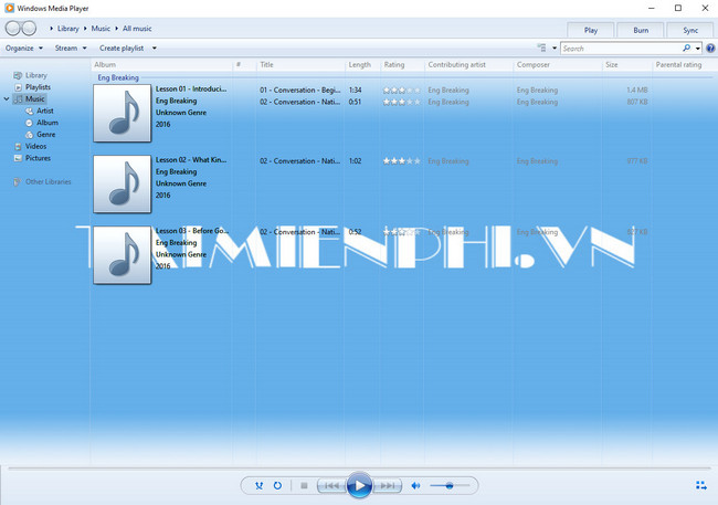Cách đổi hình nền Windows Media Player 12
