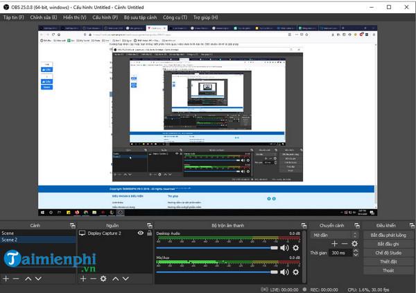huong dan recorded video on laptop computer screen bang obs studio