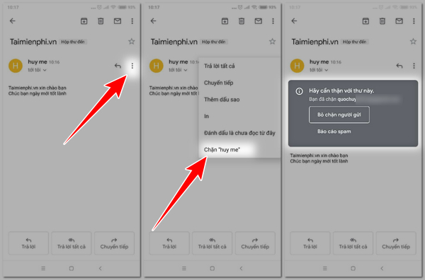 Chặn người gửi trên gmail, block email bất kỳ trong gmail