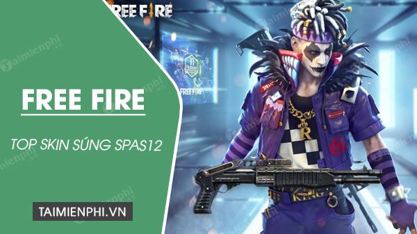 top skin sung spas12 trong free fire dep nhat