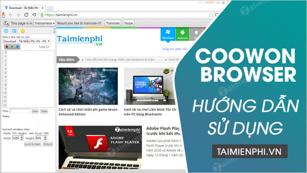 cach su dung coowon browser