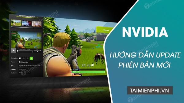 cach update nvidia