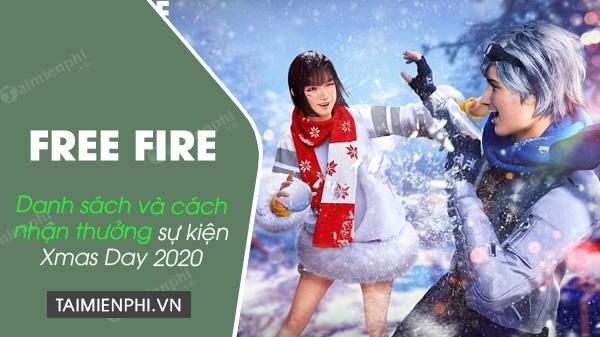 free fire xmas day 2020 list and reward list