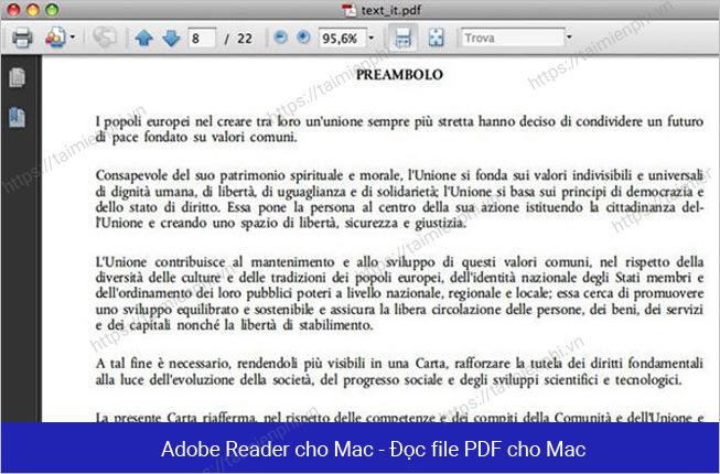 top phan mem doc file pdf tren macbook mac os