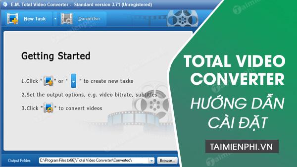 cai Total Video Converter tren pc