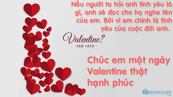 Lời chúc Valentine hay nhất, ngọt ngào và ý nghĩa 6
