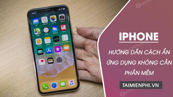 cachan ung dung tren iphone khong can cai them app