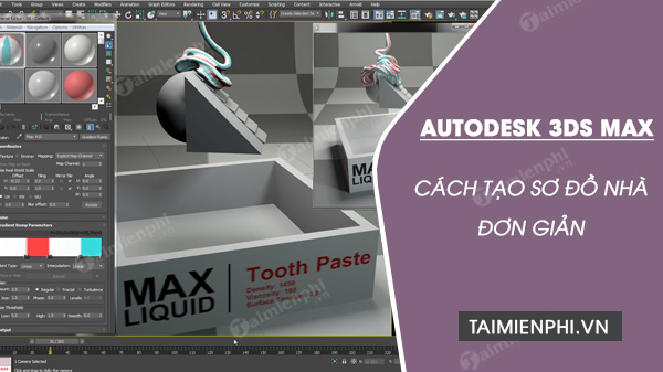 The way to create a house is easy with autodesk 3ds max