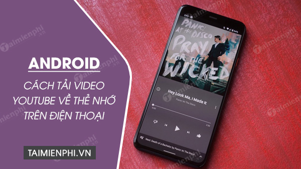 cach tai video youtube ve the nho tren dien thoai android