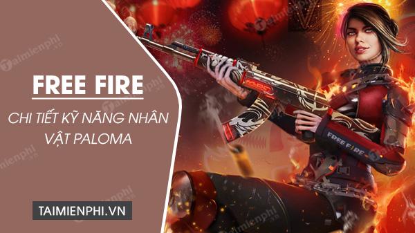 thong tin chi tiet va ky nang nhan vat paloma trong free fire