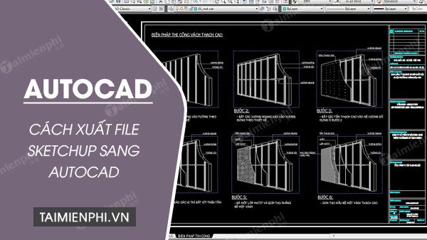 Cách xuất file SketchUp sang AutoCAD