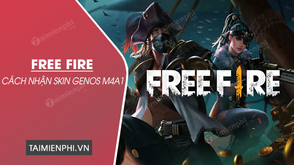 cach nhan skin genos m4a1 trong free fire