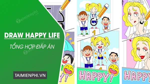 danh sach dap an trong game draw happy life