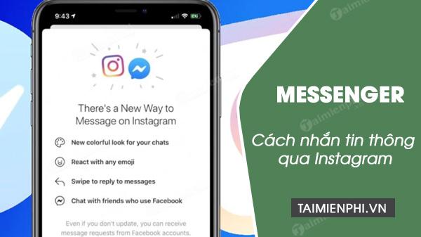 cach nhan tin messenger tren instagram