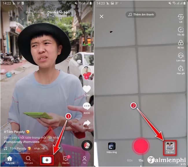 app lam video tiktok