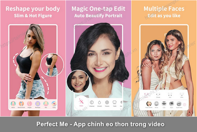 app chinh nguoi thon bop eo trong video