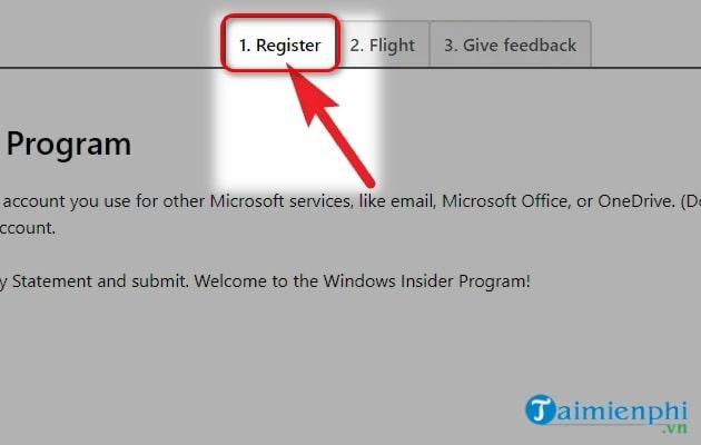 dang ky windows 11 tren website windows insider progarm