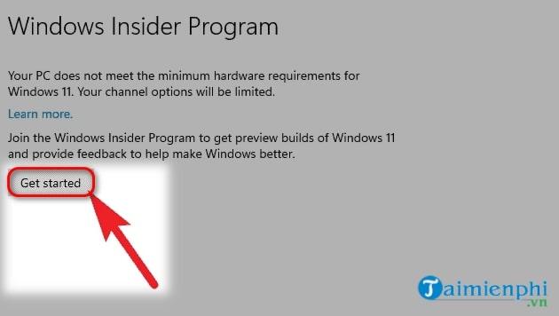 tai windows 11 thong qua windows insider program